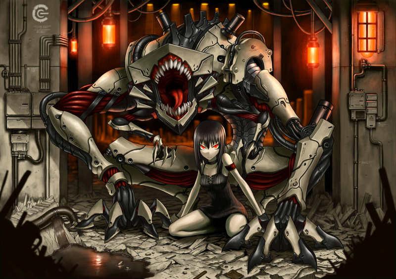 Девочка с роботом :)