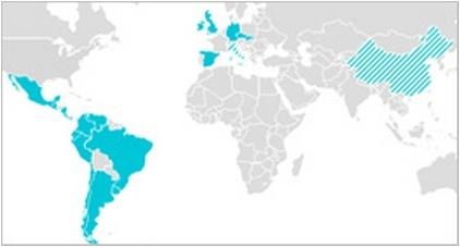 Карта присутствия Telefonica